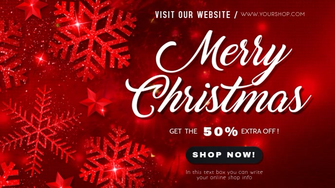 merry christmas sale video template Digitalanzeige (16:9)