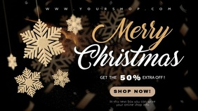 merry christmas sale video template