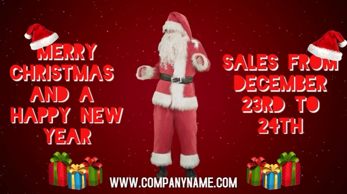 Merry Christmas Sales Digital Template Digitale display (16:9)