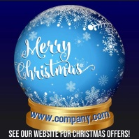 Merry Christmas Snowglobe Video Template