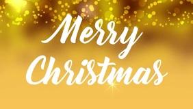 Merry Christmas Social Media Facebook video card template