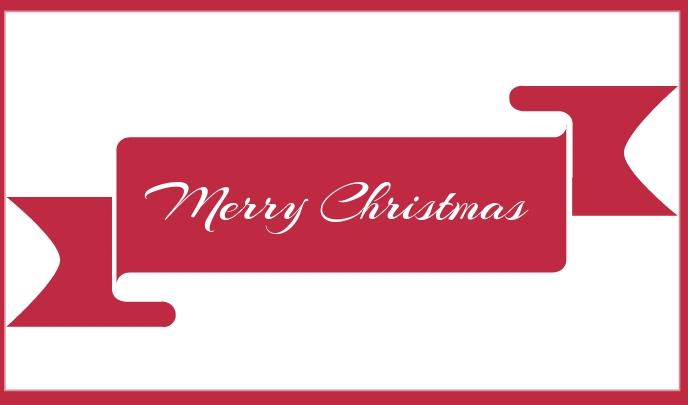 Merry Christmas tag Etiqueta template