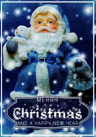 merry christmas template flyer card A4