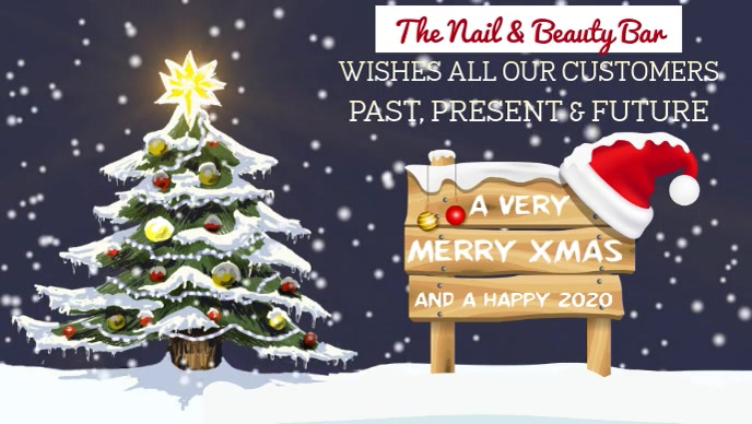 Merry Christmas to Our Customers Video Template
