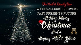 new years 3 merry christmas to our customers video template