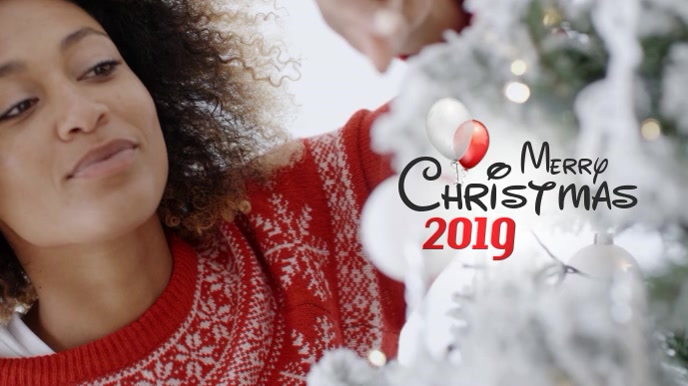 Merry Christmas Video Digital na Display (16:9) template