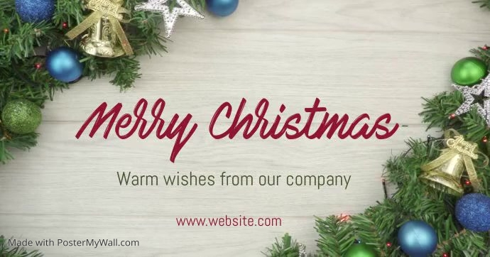 Merry Christmas video Facebook Shared Image template