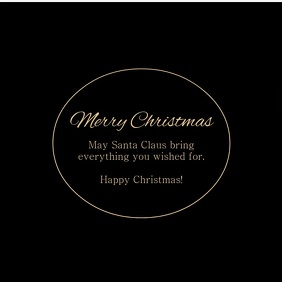Merry Christmas Video Greeting Card Gold