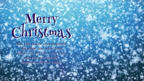 Merry Christmas Video Greeting Card Snow Ball