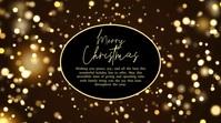 Merry christmas Video Greeting Card Sparkle Digitalt display (16:9) template