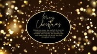 Merry christmas Video Greeting Card Sparkle Display digitale (16:9) template