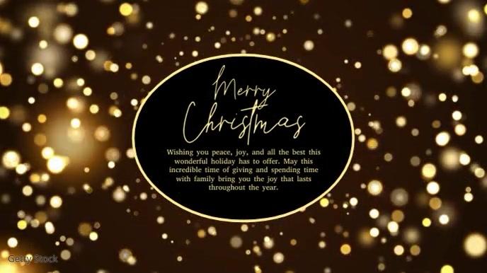 Merry christmas Video Greeting Card Sparkle Pantalla Digital (16:9) template