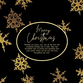 Merry christmas Video Greeting Card Square Ad