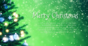 Merry christmas Video Greeting Message Green