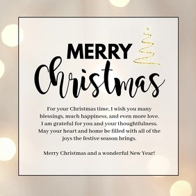 Merry Christmas Video Greeting Wishes Message