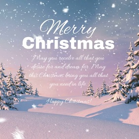 Merry Christmas Video Greetings Wishes Snow