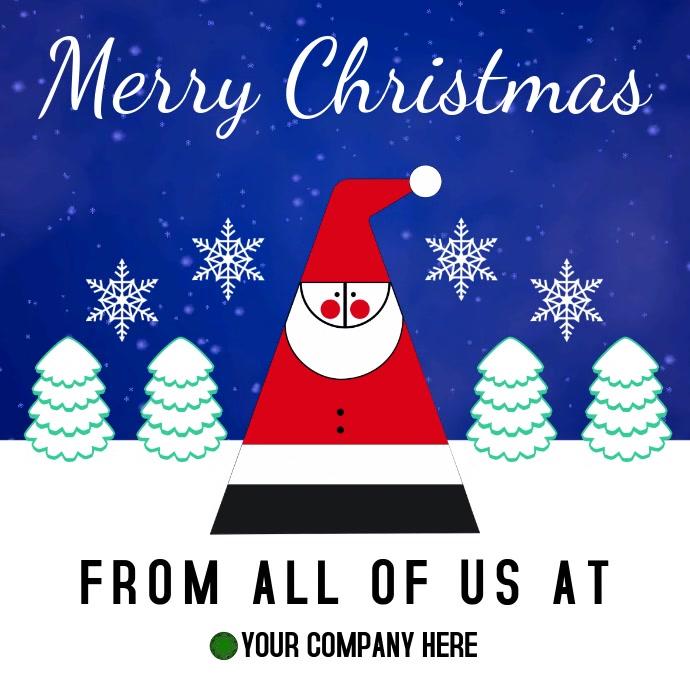 Buon Natale Video.Modello Video Di Buon Natale Postermywall