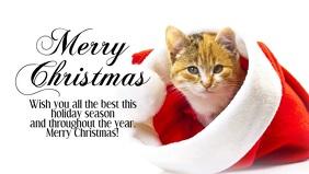 Merry Christmas Video Sweet Kitten Santa Hat