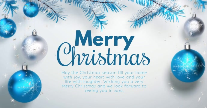 Merry Christmas Video Wishes Season Holiday
