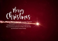 Merry Christmas Wish New Year Greeting Video Postal template