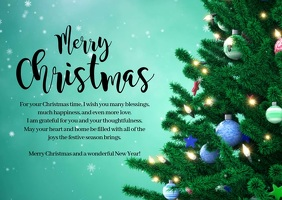 Merry Christmas Wish New Year Greeting Video