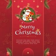 Merry Christmas Wish with Santa Сообщение Instagram template