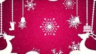 Merry Christmas wishes animated video Ekran reklamowy (16:9) template