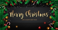 MERRY CHRISTMAS WISHES BANNER Template Facebook Shared Image