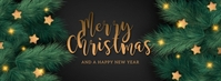 MERRY CHRISTMAS WISHES BANNER Template Fotografia de capa do Facebook
