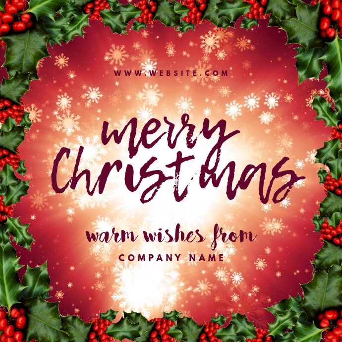 Merry Christmas Wishes Card Post Instagram template
