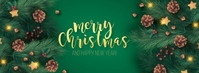 Merry Christmas wishes design template Foto Sampul Facebook