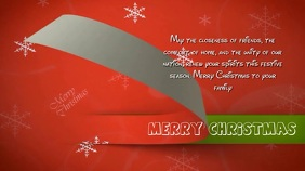 MERRY CHRISTMAS WISHES Digitale Vertoning (16:9) template