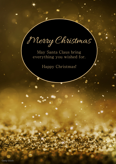 merry christmas wishes greeting card message A4 template