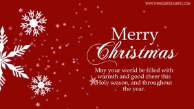 Merry Christmas Wishes Greeting Card Video Ad