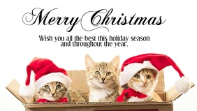 Merry Christmas Wishes Greeting Video Cats Ad