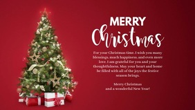Merry Christmas Wishes Message Greeting Card