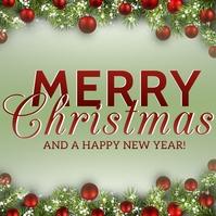 MERRY CHRISTMAS WISHES Template Kwadrat (1:1)