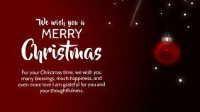 merry Christmas Wishes Video Greeting Card ad Digitale Vertoning (16:9) template