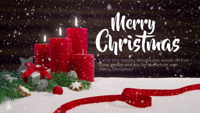 Merry Christmas Wishes Video Greeting Card Facebook-omslagvideo (16: 9) template