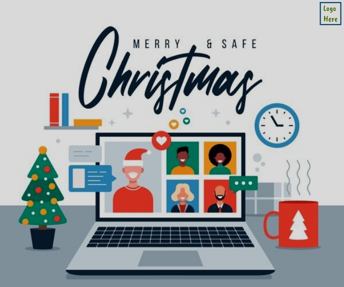 Merry Christmas wishes wallpaper Persegi Panjang Besar template