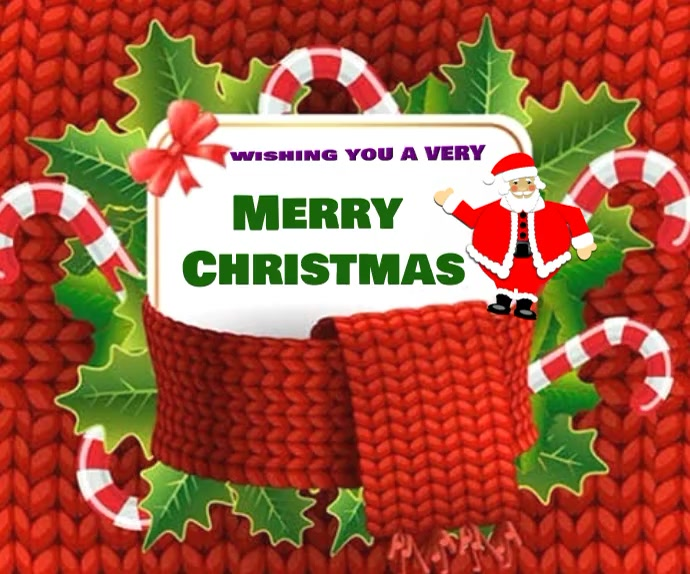 Merry Christmas wishes wallpaper Mellemstort rektangel template