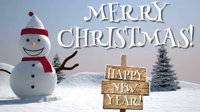 MERRY CHRISTMAS WITH MUSIC Pantalla Digital (16:9) template