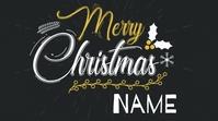 Merry Christmas Your Name Publicação do Twitter template