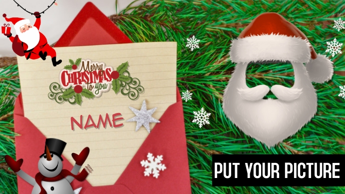 Merry Christmas Your Picture Digitalt display (16:9) template
