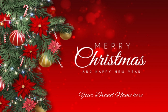 Merry christmass Design Flyer Etiket template