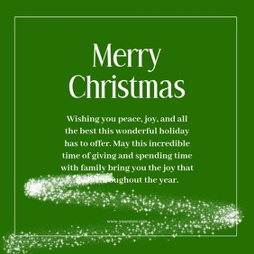 Merry Christmas Wishes Video Green Tree snow