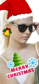 Merry xmas snapchat template