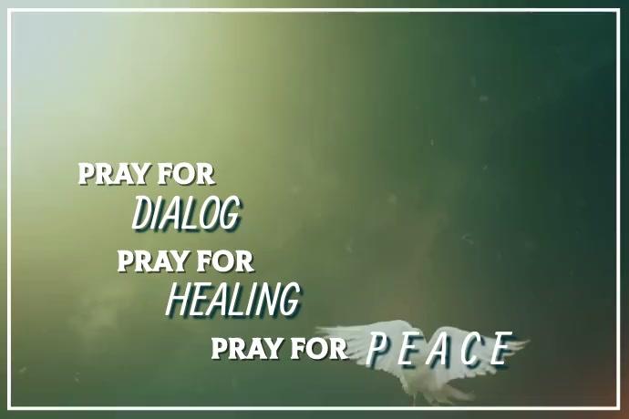 Message of Healing Video Plakkaat template