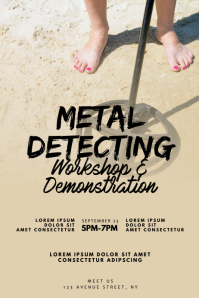 Metal Detecting Event Flyer Design Template