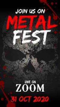 Metal fest Digitalt display (9:16) template